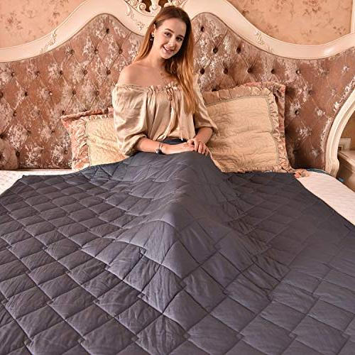 FAHUA Weighted Size Adult Breathable Cotton Heavy Blanket Beads