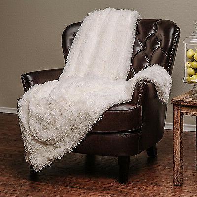 White Blanket Long Fur Cozy