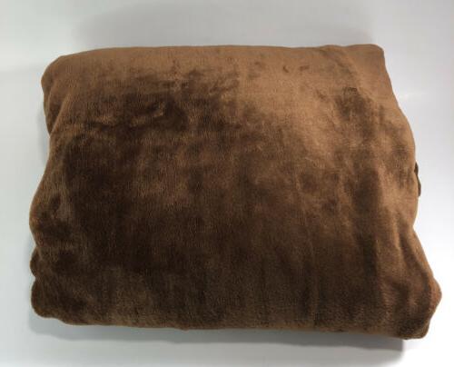 "Exclusivo Throw Flannel Fleece Plush Blanket, 50"" X Brown"