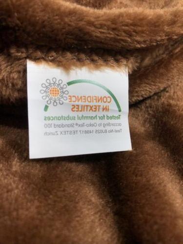 """Exclusivo Flannel Fleece Velvet Blanket, 50"""" X"""