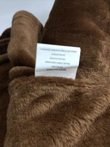 Exclusivo Flannel Fleece Blanket, X Brown