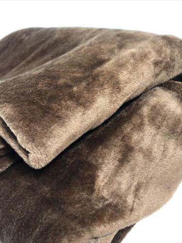 Exclusivo Flannel Velvet Blanket, X Brown