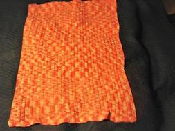 """Lap Throw or Wheel Chair Blanket HAND KNITTED 36"""" x 46"""" Brok"""