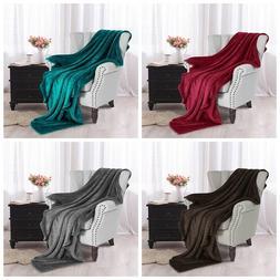 """Large Flannel Fleece Velvet Plush Throw Blanket ?79"""" x 91"""""""