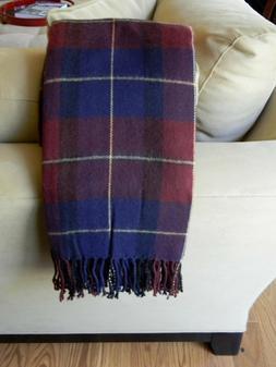 Lavish Home Cashmere-Like Blanket Throw - Blue/Red Plaid 50