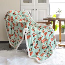 "Lavish Home Fleece Sherpa Super Soft Blanket Throw 50""x60"" M"