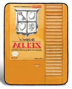 "The Legend of Zelda 48"" x 60"" gold cartridge throw blanket o"