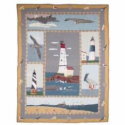 """Lighthouse By Bay Throw 50""""X 60"""""""