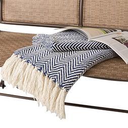 HollyHOME Oversized Herringbone Throw Blanket 50x60 Inches N