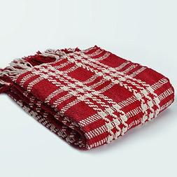 lively cheerful plaid throw blanket