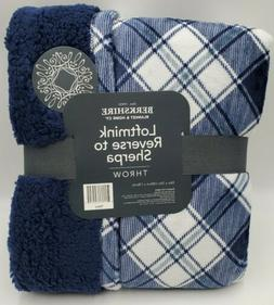 "Berkshire Blanket Loftmink Reverse to Sherpa Throw 55"" x 70"""