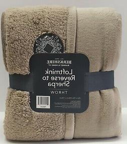 "Berkshire Loftmink Reverse to Sherpa Throw Blanket Set 55""X7"