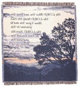 """""""Lord Bless You"""" Bible Verse Numbers 6:24-26 Afghan Throw Bl"""