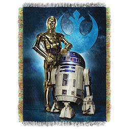 """Disney's Star Wars, """"Droid Blues"""" Woven Tapestry Throw Blank"""