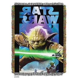 """Star Wars, Powerful Ally Woven Tapestry Throw Blanket, 48"""" x"""