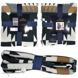 Pendleton Luxe Throw Blanket Spider Rock Black Multi 50 in x