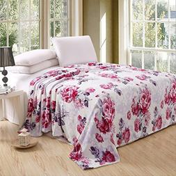Luxurious Oversized Printed Super Soft Plush Flannel Blanket