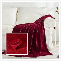 """Luxurious Plush Fleece Throw Blanket Light Super Soft 50"""" x"""