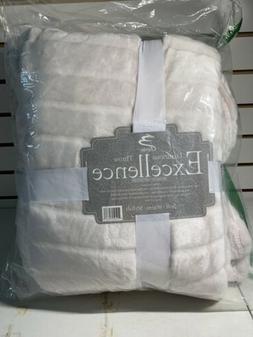 Bertte Luxurious Throw Excellence Blanket White