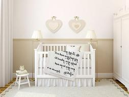 Luxuriously Soft Scripture Throw Baby Blanket | Jeremiah 29: