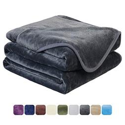 EASELAND Soft Travel Size Blanket All Season Warm Fuzzy Micr