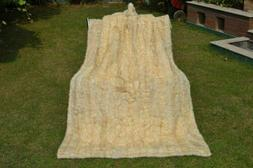 LUXURY Genuine Natural MINK Real FUR Pelz XXL Throw Blanket