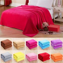 Luxury Plush Warm Soft Throw Sherpa Velvet Fleece Blanket Tw
