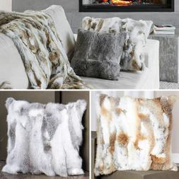 luxury rabbit fur throw 100 percent real