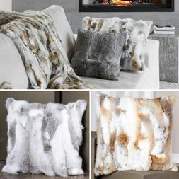 Luxury Rabbit Fur Throw 100% Real Rex skin Fur Warm Soft Bed