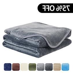 EASELAND Soft Queen Size Blanket All Season Warm Fuzzy Micro