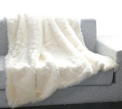 De Moocci Luxury Fashion Tip Dyed Faux Fur Throw - Best Qual