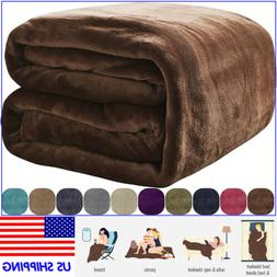 VEEYOO Flannel Fleece Blanket Soft Microfiber Plush Warm Bed