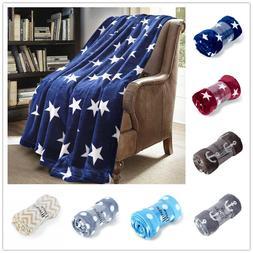 Luxury Warm Throw Soft Flannel Fleece Throw Blanket Sofa Bed