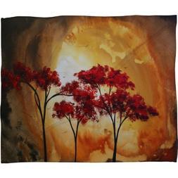 Deny Designs Madart Inc. Empty Nest 2 Fleece Throw Blanket,