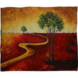 Deny Designs Madart Road To Nowhere 2 Fleece Throw Blanket,