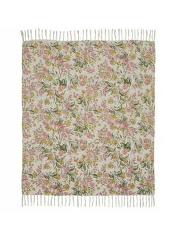 Madeline Printed Woven Throw 60x50 Blanket Cotton Country Fl