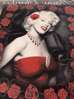 MAKE OFFER- Marilyn Monroe Red Rose PLUSH SOFT microfiber bl