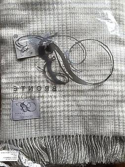 BRONTE by MOON Merino Lambswool Grey Gray Throw Prince of Wa