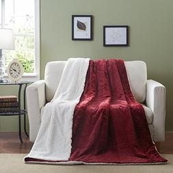 merlot red bed blanket