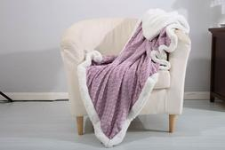 Mermaid Reversible Sherpa Throw Blanket