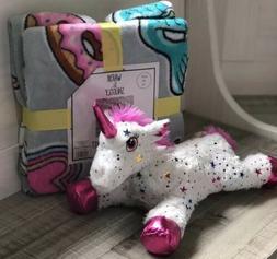 "Mermaid Unicorn Dream Magic Throw Blanket 50""x60"" Sparkle pl"