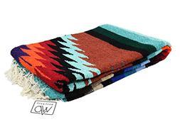 Open Road Goods Mexican Yoga Blanket, Navajo Aztec Diamond X