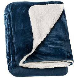 """Life Comfort Microfiber Plush Polyester 60/""""x70/"""" Large All Season Blanket for Bed or Couch Ultimate Sherpa Throw Blue Green Nemcor"""