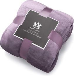 Microfiber Throw Blanket Luxury Lavender Purple Twin Size Li
