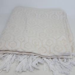 DII Modern Cotton Geometric Blanket Throw with Fringe, 50 x