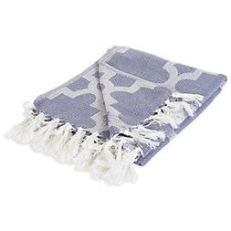 DII Modern Moroccan Cotton Blanket Throw with Fringe For Cha