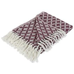 modern moroccan cotton blanket throw with fringe