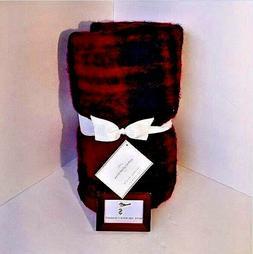 Pottery Barn Mohair Red Black Plaid 50 X 70 Christmas Winter