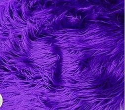 "Mongolian Fabric Faux Fur Purple / 58"" Wide / Sold by the Ya"