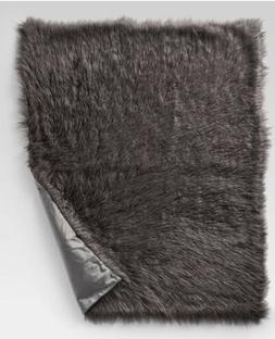 "Mongolian Faux Fur Throw Blanket - Project 62 Gray 60""x50"""